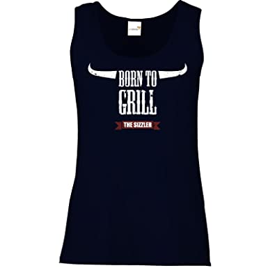 getshirts - SizzleBrothers Merchandise Shop - Tank Top Damen -  SizzleBrothers - Grillen - Born To Grill: Amazon.de: Bekleidung