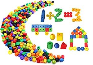 PK-Articles Lacing Beads Set for Toddlers -100 Jumbo Beads...
