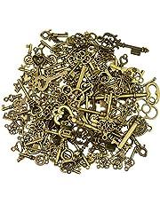 36Pcs Extra Large Antique Bronze Finish Skeleton Keys Rustic Key for Wedding Decoration Favor, Necklace Pendants, Jewelry Making
