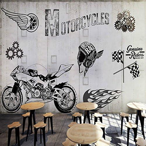 Leegt 3d Papier Peint Wallpaper Fresque Mural Moto Custom 3d