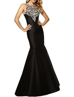 01d010f506c SeasonsMall Womens Prom Dress Mermaid Black Evening Formal Dresses