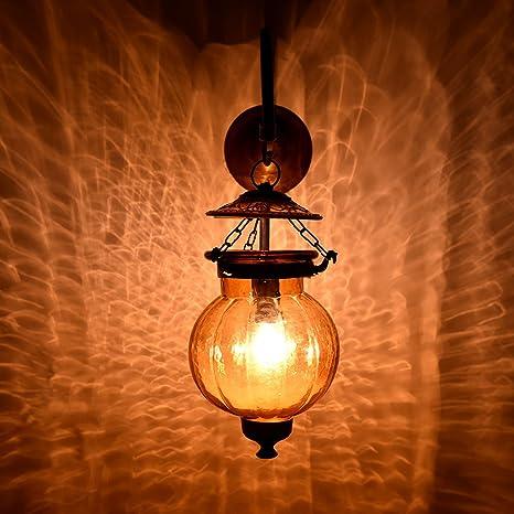 Amazon.com: Hecho a mano clásico calabaza vidrio lámpara de ...