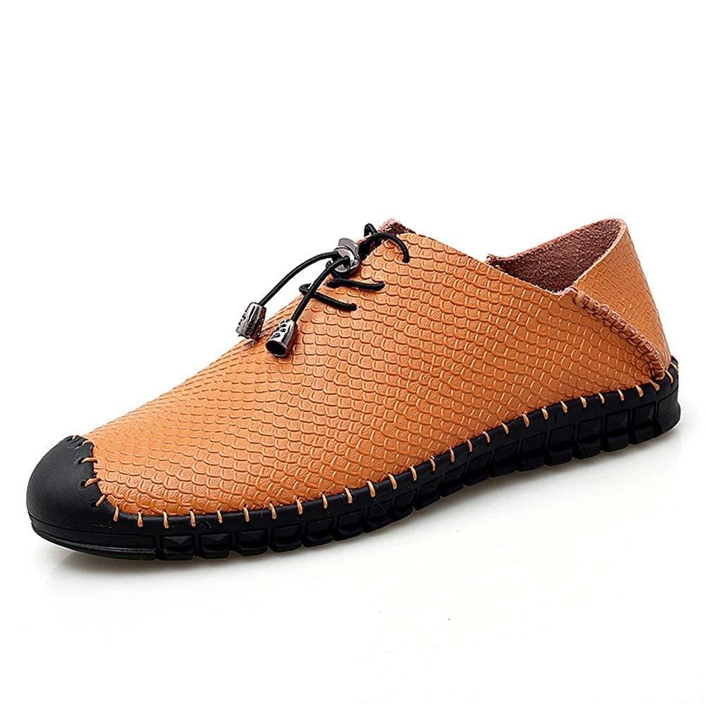 Braun Schnüren Sie sich oben Art-Ochsenleder-hohle Antikollisionszehe (herkömmliche wahlWeiße freigestellte Sandelholze für Männer im Freienwasserschuhe ,Grille Schuhe ( Farbe   Schwarz, Größe   48 EU