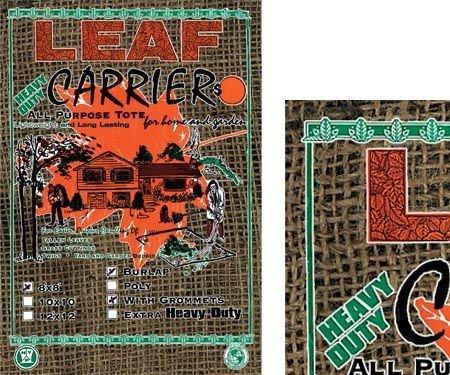 Burlap Leaf and Grass Carriers
