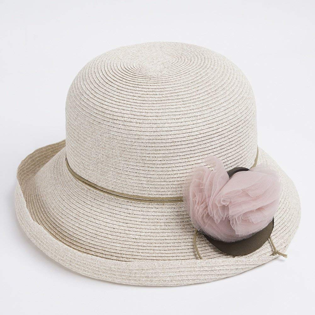 2 Summer vacation lady sun hat Sun Hats Sunscreen Spring Summer New Product Lafite Straw Hat Crimping Fashion Holiday Hat