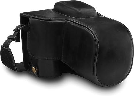 MegaGear Ever Ready - Funda para Nikon D3500 (de Cuero, con Correa) Color Negro: Amazon.es: Electrónica