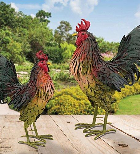 Buy outdoor metal rooster art