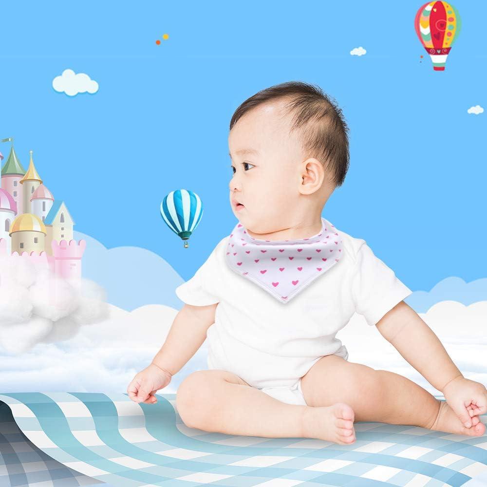 Baby Bandana Bibs Girls,4 Pack Super Soft and Absorbent Drool Bibs