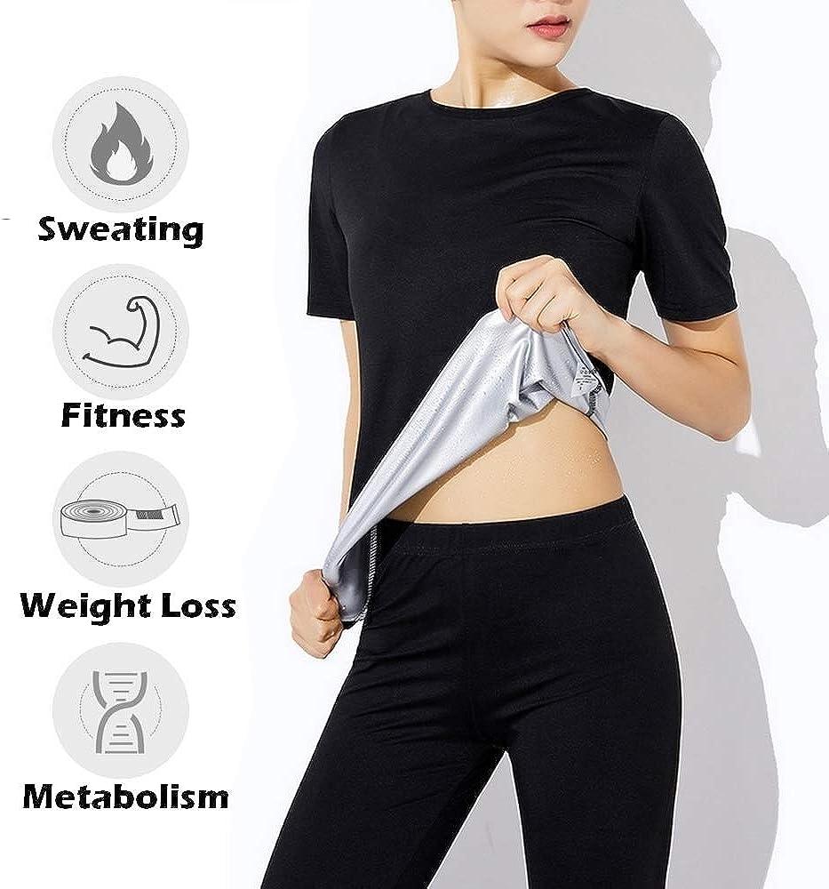 Camiseta Sauna Mujer Abdominales Adelgazante para Sudar Elegante L Gimnasio Gym Casa Perdida De Peso Rapido Reducir Faja Adelgazar Los Mejores Quemagrasas Abdominal Lumbar Musculacion