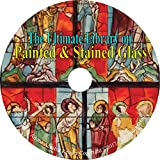 img - for Painted & Stained Glass, Ultimate Library on CD   24 Books, Windows, History, Art book / textbook / text book