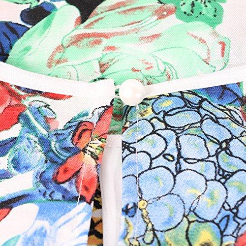 Natsume servicio a domicilio/Sin mangas estampado largo camisón/ Pijama/ atractiva A