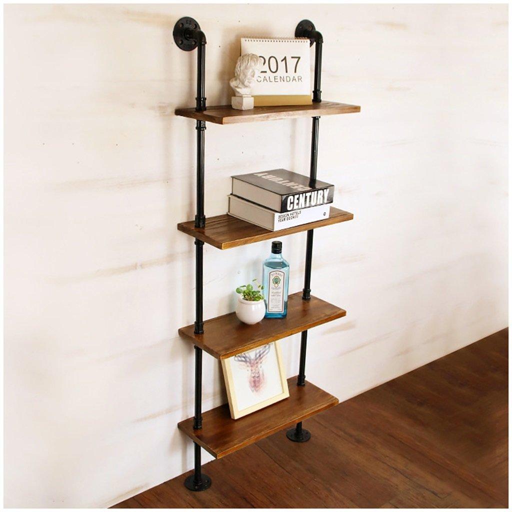 本棚のような居間のための鉄の金属の水パイプ棚の壁の吊り下げとの固体木製の壁の棚ウォールデコレーションデザインヴィンテージLOFTインダストリースタイル ( 色 : 6 Tiers , サイズ さいず : 50cm*20cm ) B013BYMRIO 6 Tiers 50cm*20cm