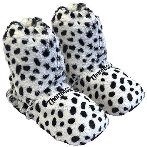 Thermo Sox Original heizbare Wärmehausschuhe Körnerpantoffel für ofen & Mikrowelle Hoch Superweich Hausschuhe Dalmatiner