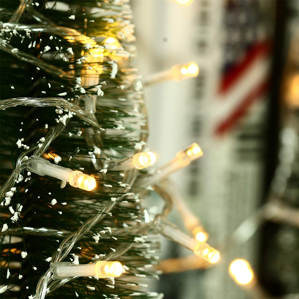 Weihnachtsbeleuchtung Mit Timer.Hayata 200 Led Batterie Lichterketten 20m Weihnachtsbeleuchtung