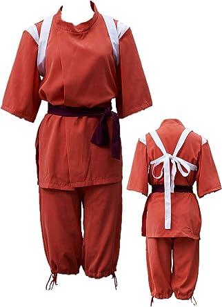 Amazon Com Spirited Away Ogino Chihiro Halloween Cosplay Costume Full Set Clothing