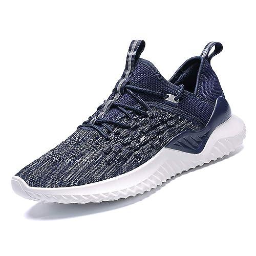 Zapatos para Correr Hombre Calcetines Zapatillas de Deportivo Slip on Sneakers de Gimnasia Jogging Low Top