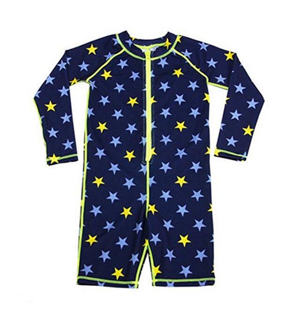 ZYZF Kids Boy Girl Long Sleeve One-Piece Rash Guard Swimsuit Sun Protection Sun Suit 2016007140257