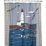 Patch Magic 72-Inch by 72-Inch Lighthouse By Bay Cz Shower Curtain