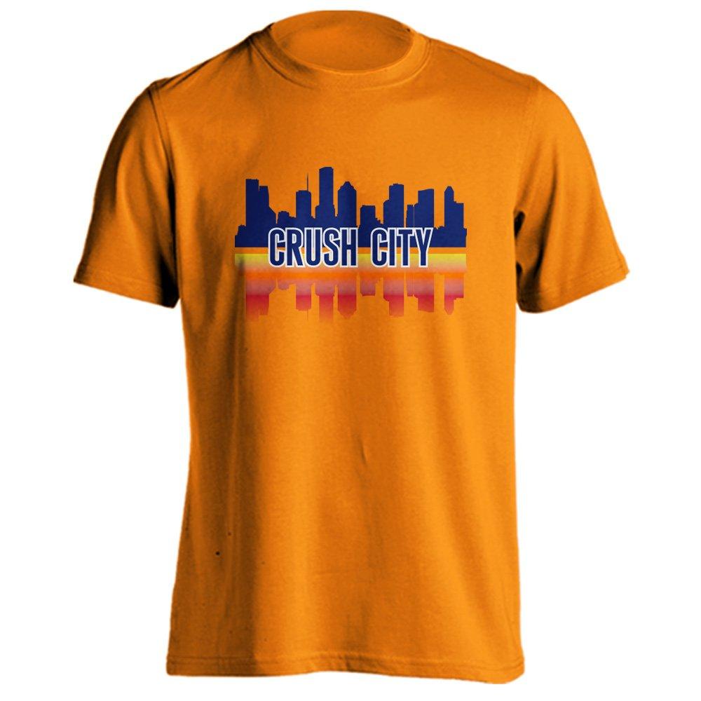 922ea458c7c Amazon.com   Houston Crush City Baseball Skyline Adult Short Sleeve T-Shirt    Clothing