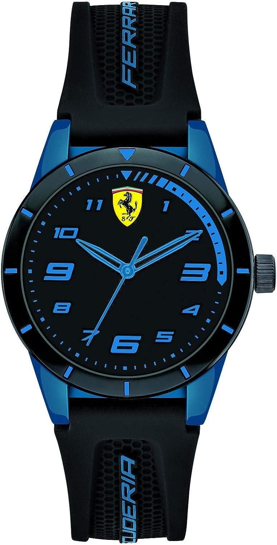 Ferrari Reloj Analógico para Hombre de Cuarzo con Correa en Nylon