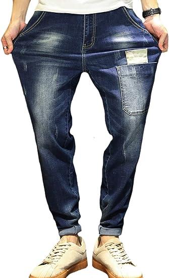 (アイユウガ)I-YUUGA ジーパン デニム パンツ メンズ 黒 ネイビー ブルー ストレッチ 素材で 着心地 抜群 の テーパード ジーンズ