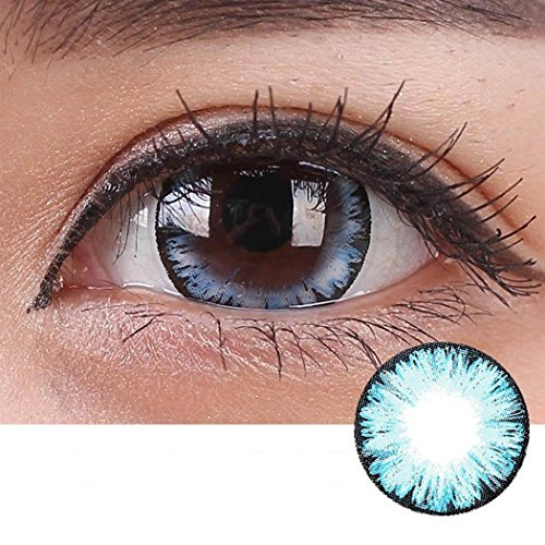 Rtiopo Cosplay Large Diameter Contacts Lens Eye Makeup Unisex 5 Colors Available for Both Men & Women (blue)