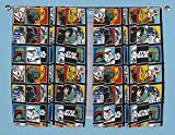 STAR WARS FORCE 66' X 72' PENCIL PLEAT READY MADE CURTAINS SET MATCHES DUVET
