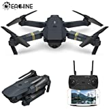 Drone With Camera, EACHINE E58 WIFI FPV Quadcopter With 2MP 720P Wide Angle Camera Live Video Mobile APP Control Foldable Altitude Hold Mode Selfie Pocket RC Helicopter RTF