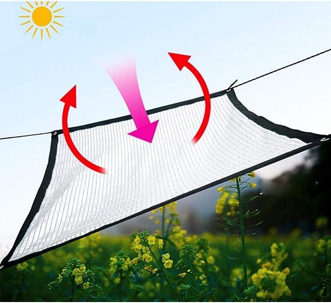 JOHNSTON Tela Reflectante Aluminet ? 75% Tela de Aluminio, Malla de Pantalla Resistente a los Rayos UV con Ojales para Visera de jardín, 3x3 pies / 1x1m (2 x 15 ft / 4x5 m): Amazon.es: Hogar