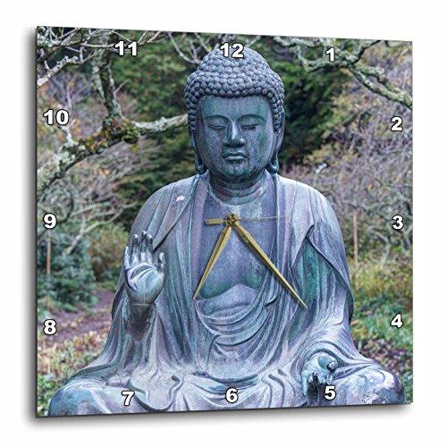 Japan, Kanagawa, Kamakura, Tokeiji Temple Buddha. Wall Clock