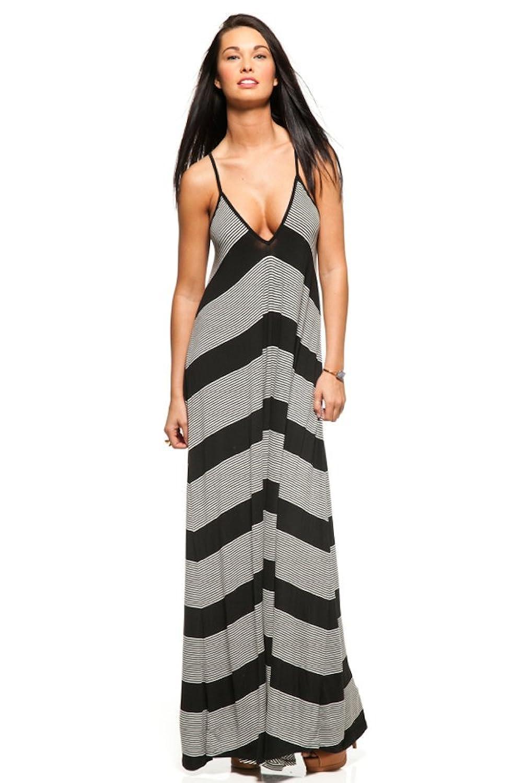 Blue Life Pharaoh Striped Maxi Dress in M