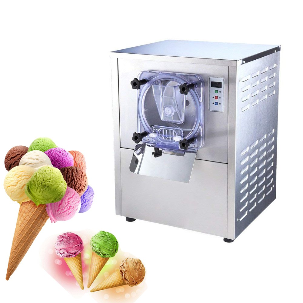 Hard Ice Cream Machine denshine Commercial Desktop Ice Cream Making Machine Stainless Steel Ice Cream Maker for Commercial Use, 5.3 Gal/H