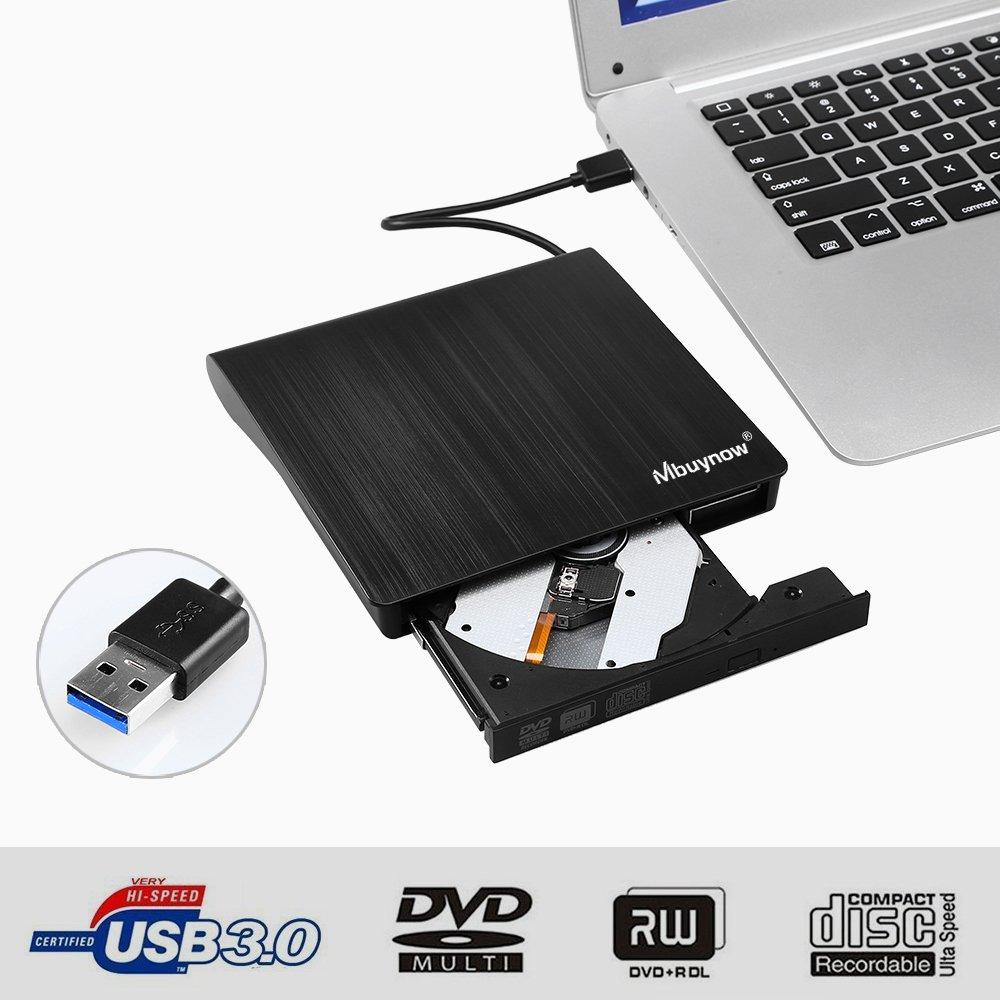 AGM Masterizzatore CD/Dvd Lettore CD Portatile con USB 3.0, sú per-Silm Lettore/Escritor Esterna di CD/Dvd Registratore Portatile Compatibile con Laptop/PC Desktop Apple MacBook PRO Air Windows XP/7 Mbuynow-ES-FBA-QTCE52950148