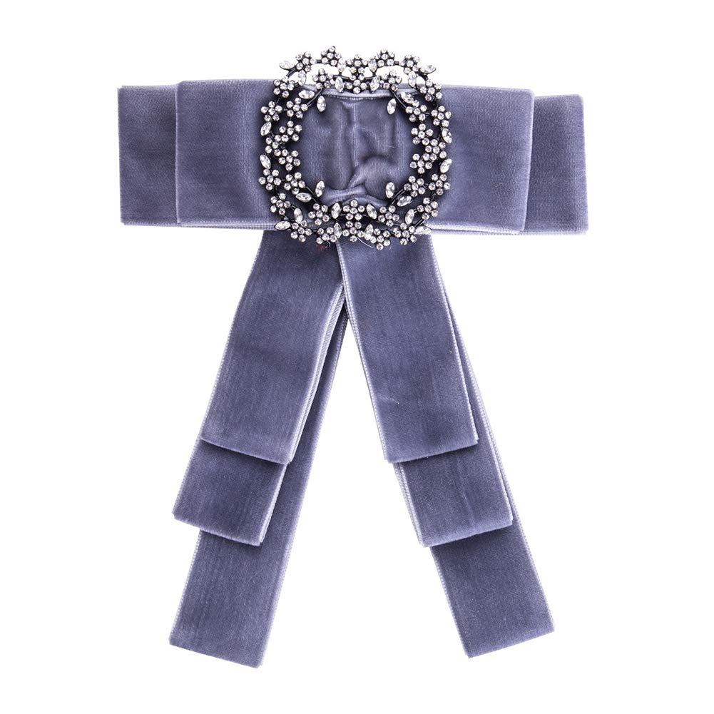 16.2 * 13.2cm Adecuado para la Boda D/ía de Navidad Accesorios de Ropa Nikgic Azul Broche Terciopelo Dorado Nudo de Mariposa Pajarita Broche