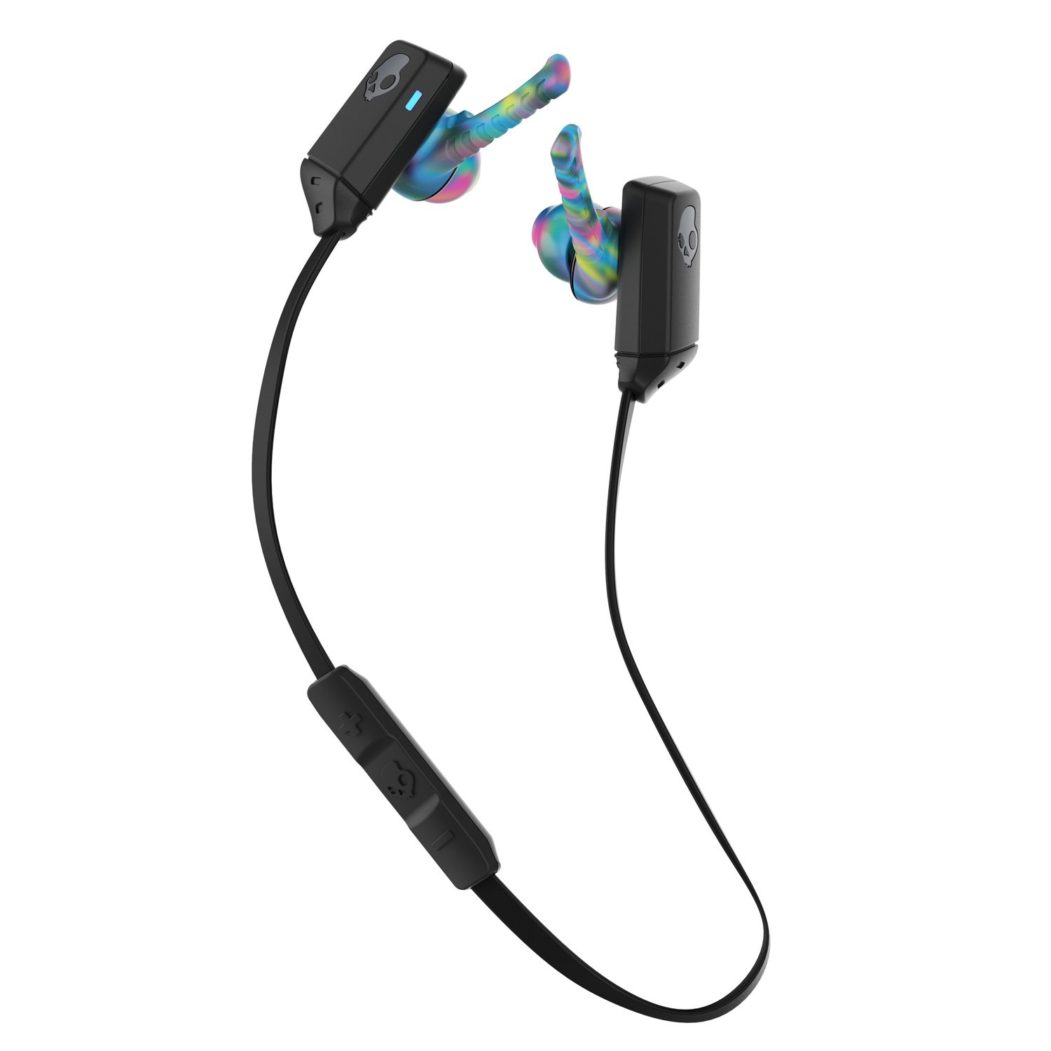 Skullcandy Xt Free Bluetooth Wireless Sweat Resistant Earbud With Microphone, Lightweight And Secure Fit, 6 Hour Rechargeable Battery, Pureclean Tech To Keep Earbuds Fresh, Black/Swirl by Skullcandy