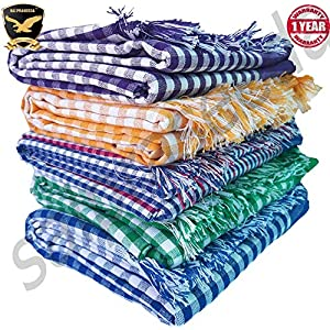 Reysol Handloom Cotton Towels 32 x 68 Inches_Pack of 4_Multi Color