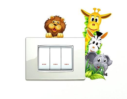 65 opinioni per Adesivi Animaletti della savana che si affacciano Simpatici Wall Stickers