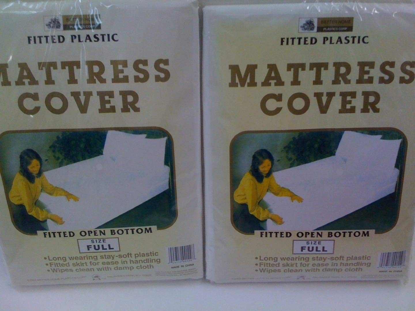 New 2 Mattress Covers Waterproof Full Fitted Sheets