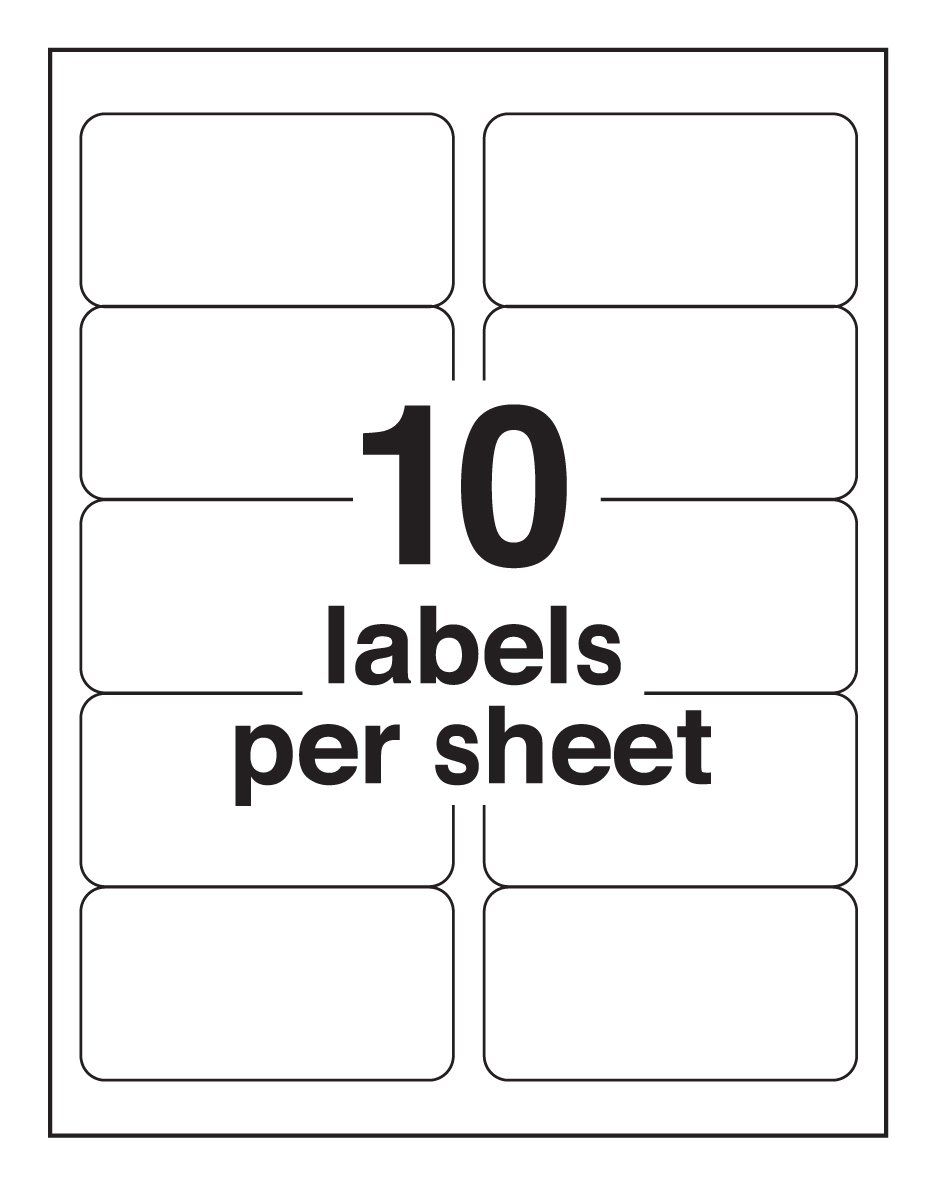 Amazon.com : Avery High Visibility 2 x 4 Inch Labels, Assorted ...