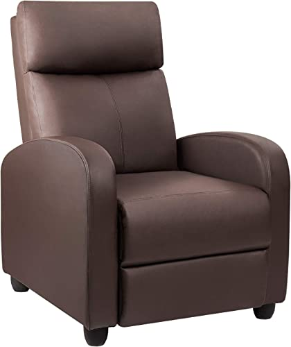 Devoko Recliner Chair Home Theater Seating Pu Leather Modern Living Room Chair Furniture
