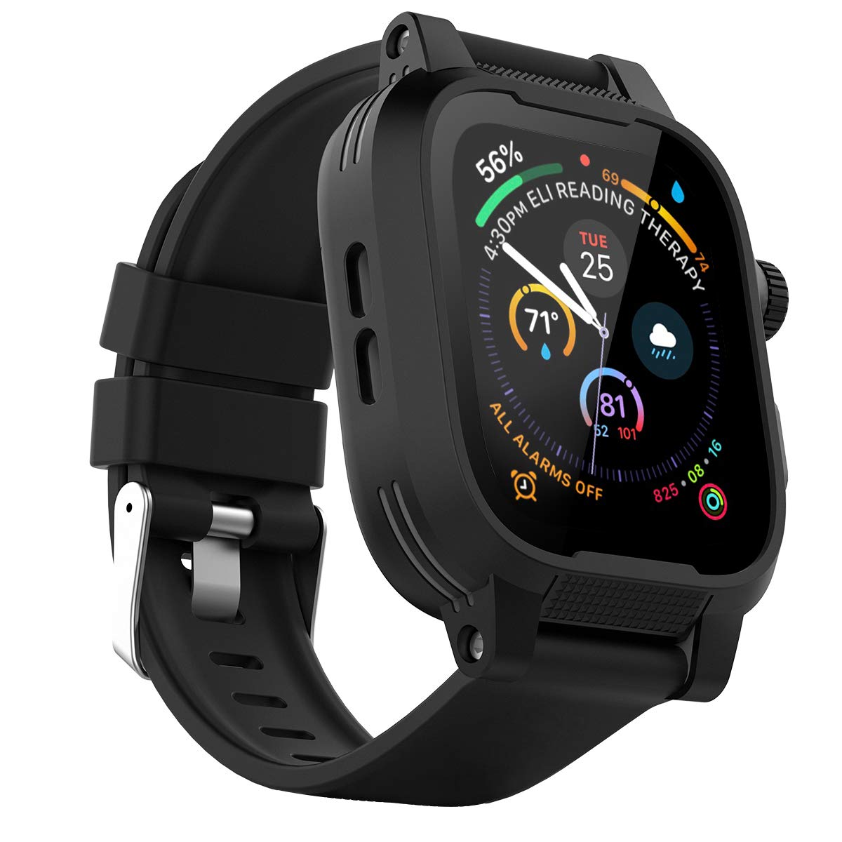 IP68 Waterproof Watch Case for 42mm Apple Watch Series 3 & 2 Heavy Duty Shockproof Impact Resistant iWatch Full Sealed Case with Premium Soft Silicone Replaceable Watch Band by Shellbox