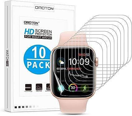 OMOTON Protector Pantalla Apple Watch Series 5/4 44mm, TPU ...