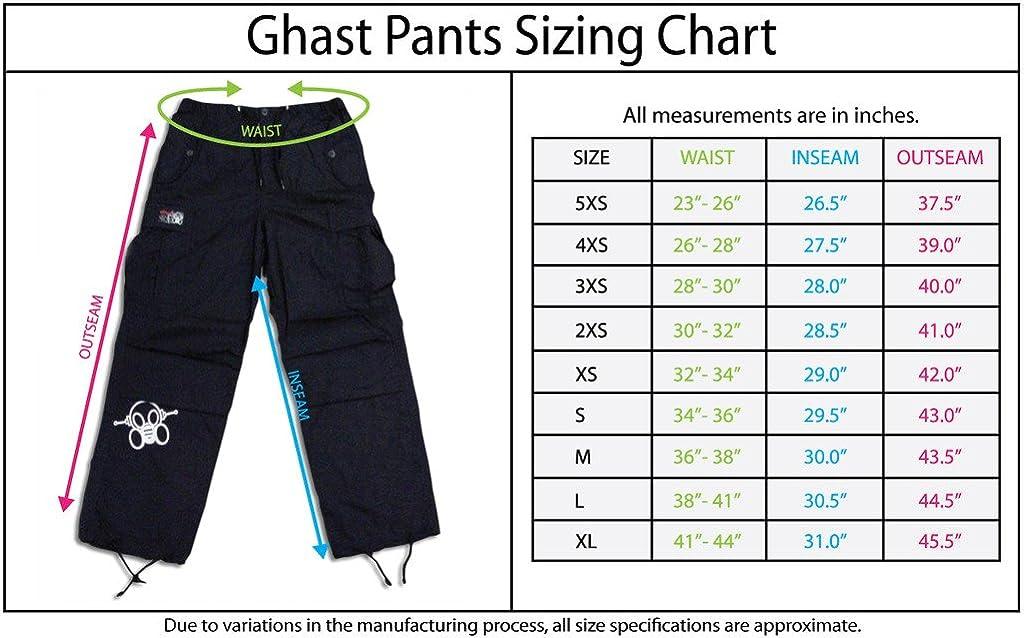 Ghast Unisex Cargo Drawstring Rave Dance Shorts: Clothing