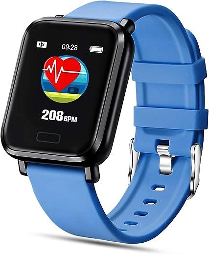 FENHOO Smartwatch Orologio Fitness Tracker Uomo Donna, Smart Watch Impermeabile IP68 con Saturimetro, Misuratore Pressione, Cardiofrequenzimetro da Polso, Sportivo Activity Tracker per Android iOS
