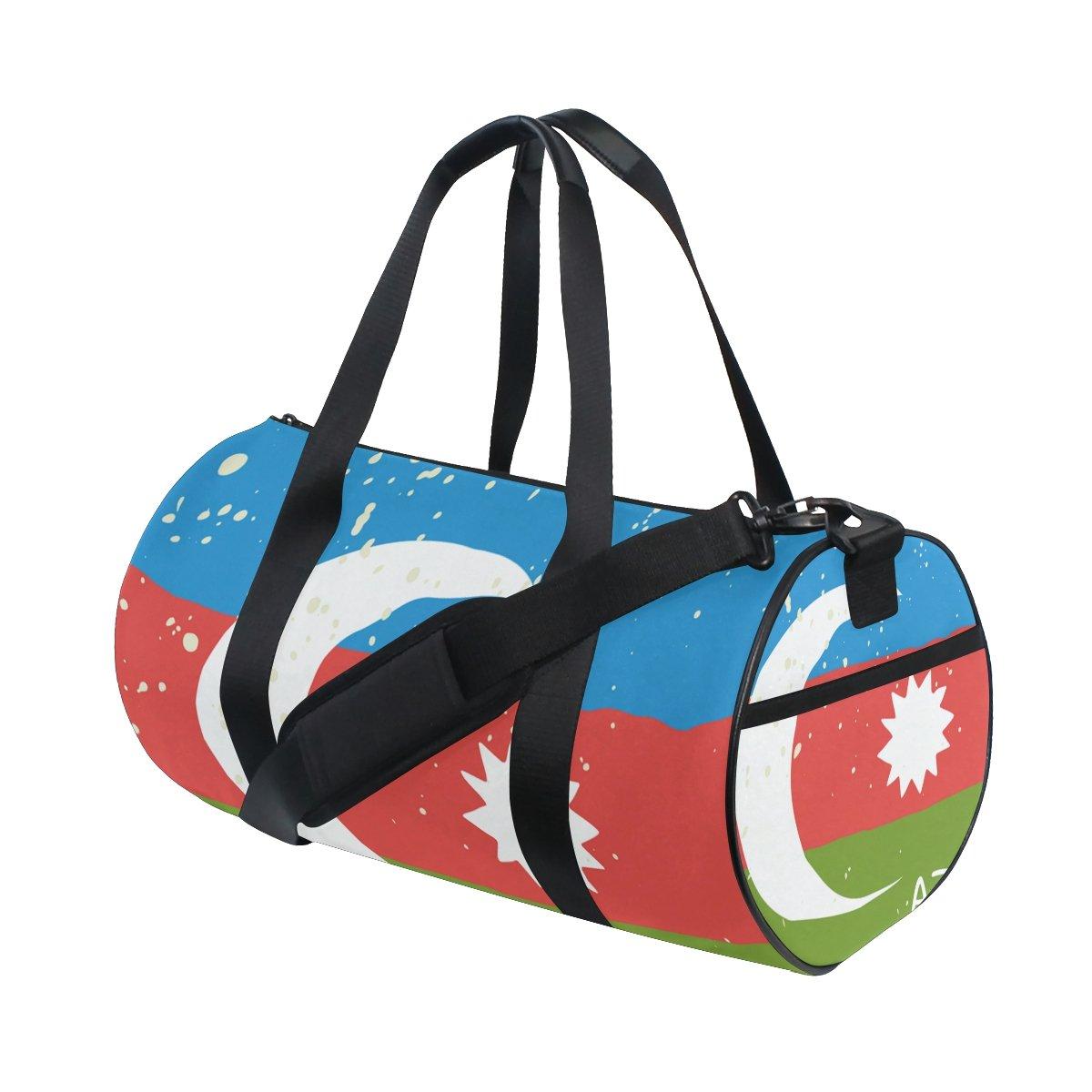 Distressed Azerbaijan Flag Travel Duffel Shoulder Bag ,Sports Gym Fitness Bags