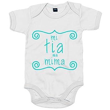 Body bebé Mi tía me mima - Blanco, 6-12 meses: Amazon.es: Bebé
