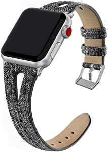 GHIJKL Compatible with Apple Watch Band 38mm 40mm, Slim Vintage Woven Fabric Band Replacement Accessories Strap for Iwatch Series 4/3/2/1 Women Men