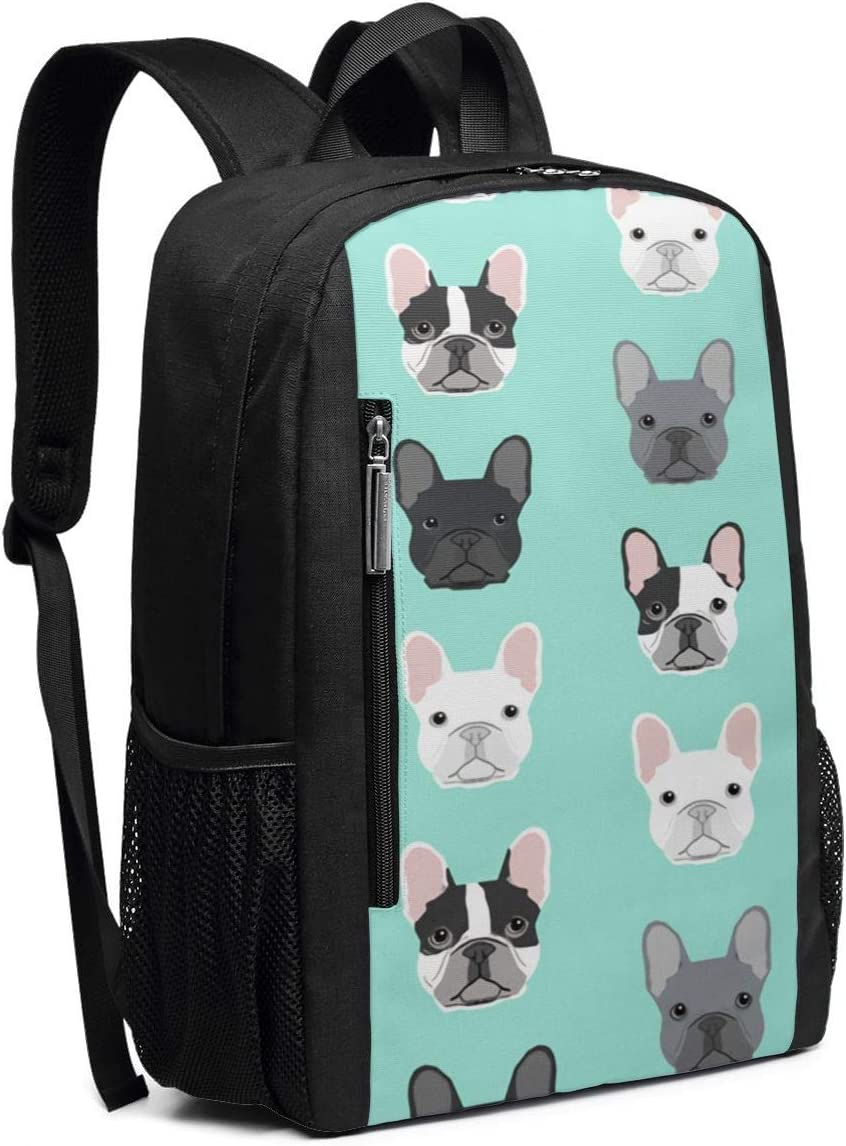 Bulldog Sweet Dog Puppy Puppies Dog Casual Backpack Business Outdoor Travel Camping Bags Notebook for Women Men