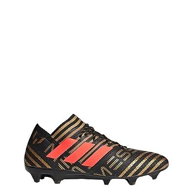 cb09776bb254e adidas Men's Nemeziz Messi 17.1 FG Soccer Cleats (Black/Solar red/Gold  Metallic