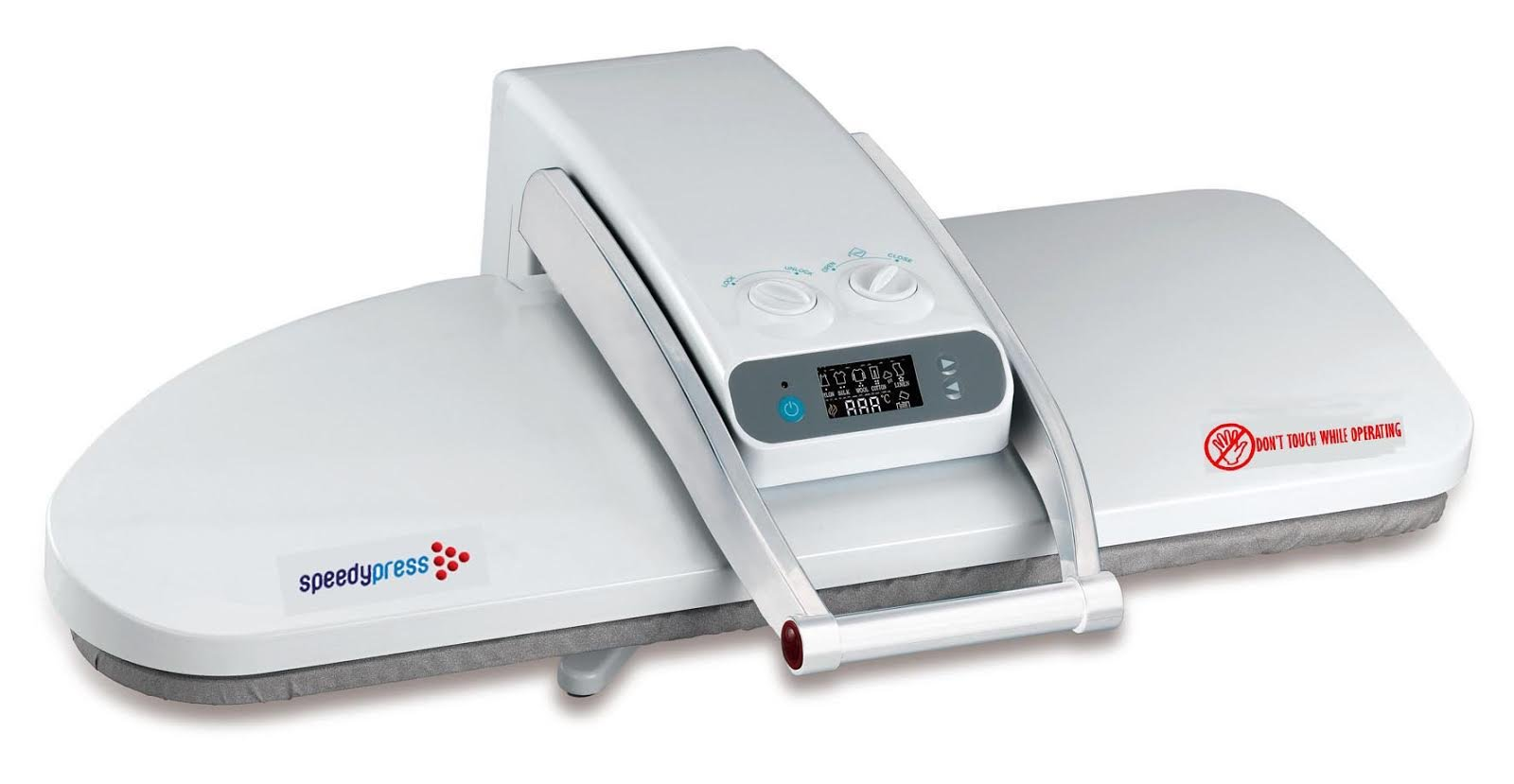 Ironing Press for Dry or Steam Pressing, 1800 Watts! 38 Powerful Jets of Steam, 100lbs of Pressure, Includes Extra Cover+Foam ($35 Value)! (Extra Large)